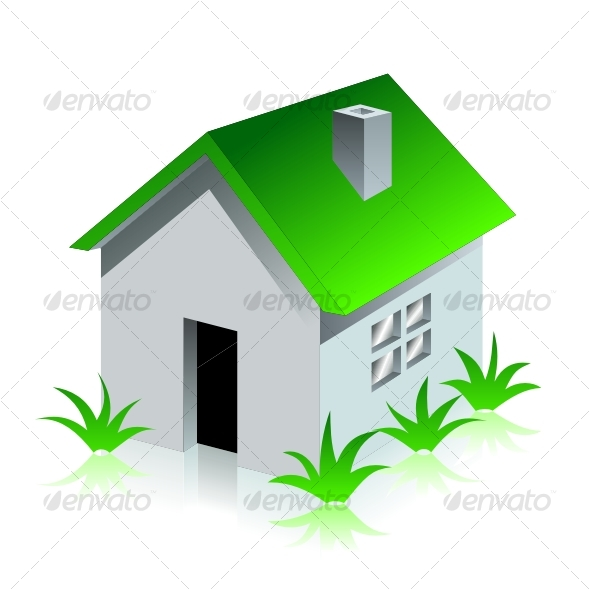 Green eco house - Buildings Objects