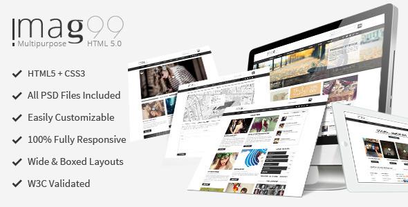 iMag99 - Magazine and Multi-purpose Theme