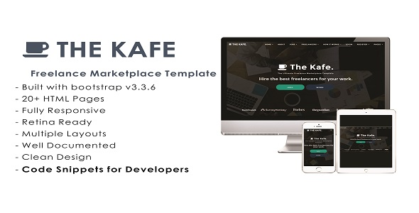 the kafe ultimate freelance marketplace template by themashabrand. Black Bedroom Furniture Sets. Home Design Ideas