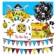 Pirate Party Elements Vector On White Background