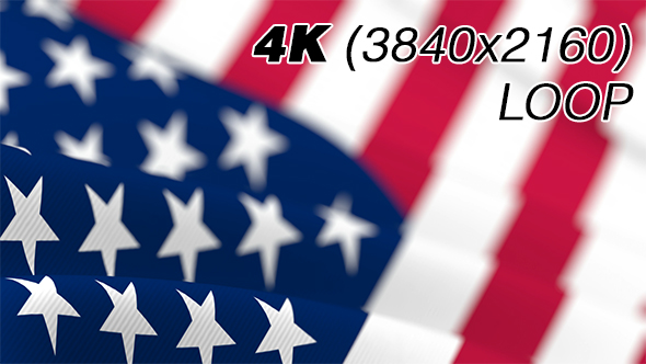 USA Flag - 3D, Object Taustat Motion Graphics