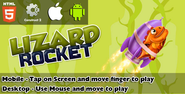 Download Lizard Rocket HTML5 Game (CAPX) nulled download