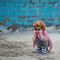photo of little cute unhappy boy