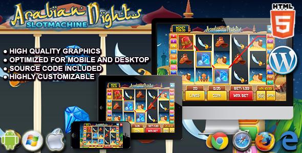 Slot Arabian - HTML5 Casino Game
