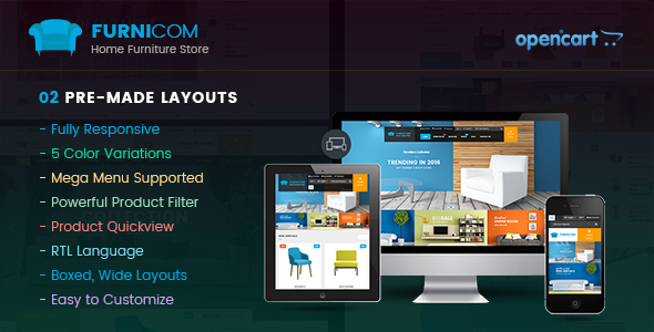 Download Furnicom - Responsive Multipurpose OpenCart Theme nulled download