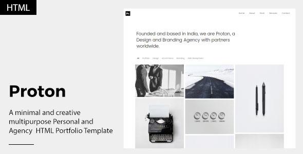 Proton - Personal and Agency Portfolio Template