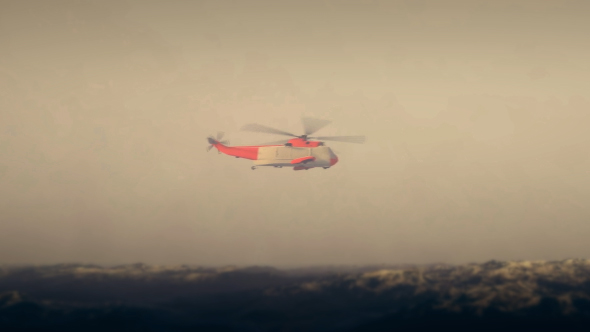 Coast Guard - Resque Helikopteri - Heavy Weather - Taustat Luonnosta Motion Graphics