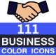 111 Business Flat Color Icons