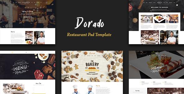 Dorado - Restaurant PSD Teamplate