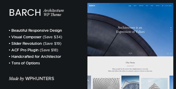 Download Barch - Clean Architecture & Construction WordPress Theme
