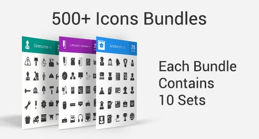 500+ Icons Bundle