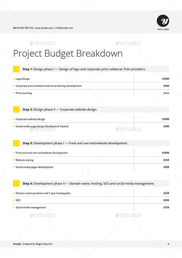 Proposal Template by KennyWilliams – Purchase Proposal Template