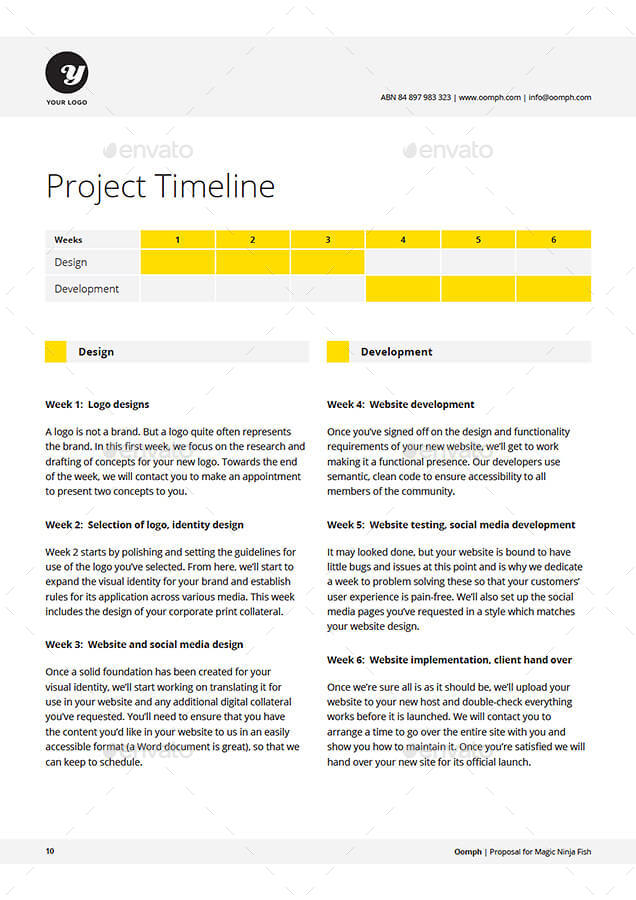 rfp timeline template - proposal template by kennywilliams graphicriver