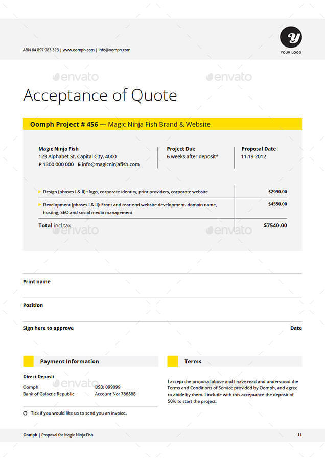 Doc515662 Professional Quote Template Quotation Templates – Quote Proposal Template