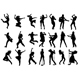 Singer and Dancer Silhouettes