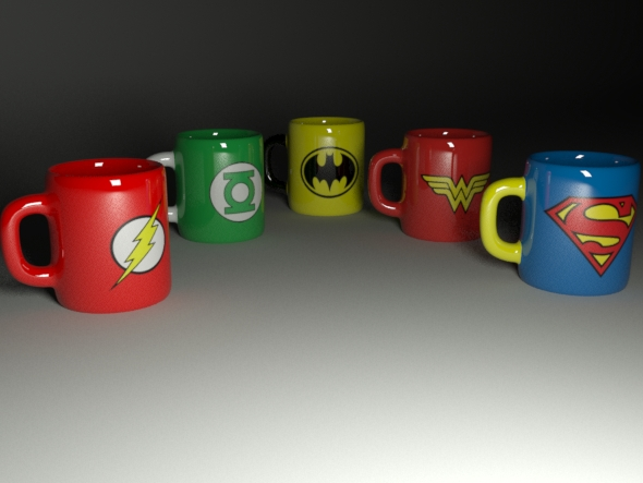 3DOcean collection of cups 16793899