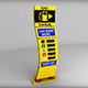 Gas station price sign totem low poly 03