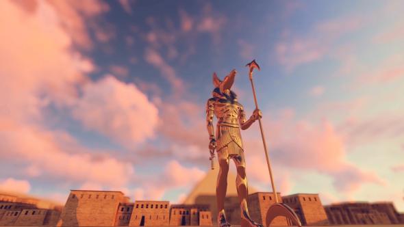 3D Gods Muinaisen Egyptin - Anubis - 3D, Object Taustat Motion Graphics