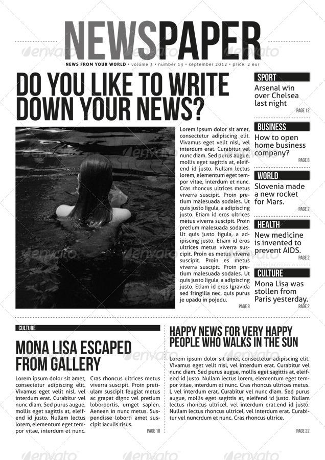 indesign modern newspaper magazine template a4 by zigazi83