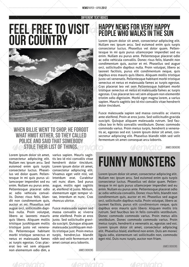 indesign modern newspaper magazine template a4 by zigazi83