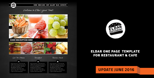 Eldar - Elegant Retina Restaurant & Cafe Template