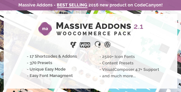 Massive Addons for Visual Composer - WooCommerce Pack