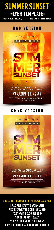 Summer Sunset Flyer Template