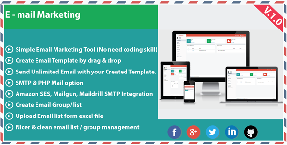 Email marketing nulled download for Mailgun templates
