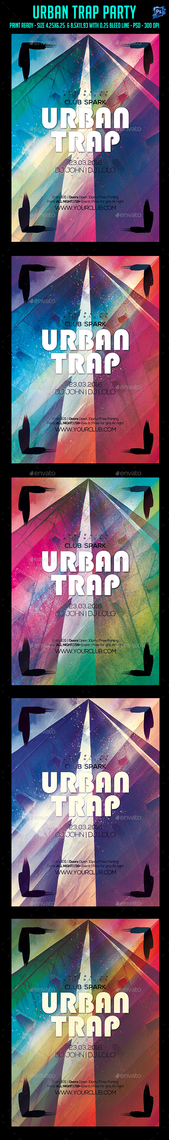Urban Trap Party Flyer