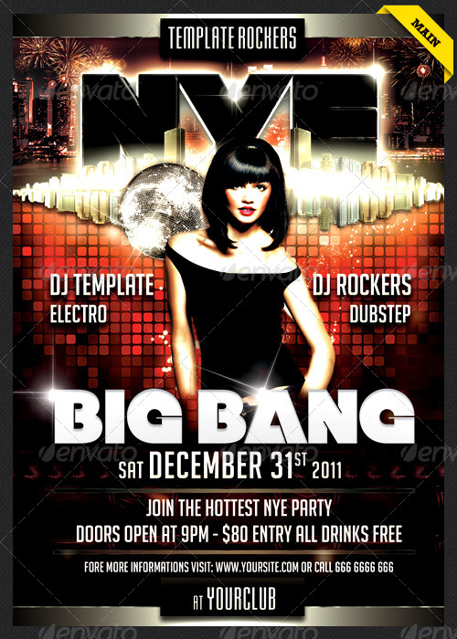 NYE Big Bang Flyer | 3 Colors