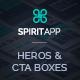SpiritApp Heros and CTA Boxes