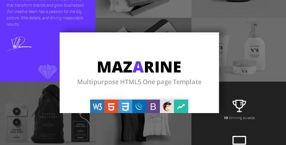 Mazarine - Multipurpose One page Template