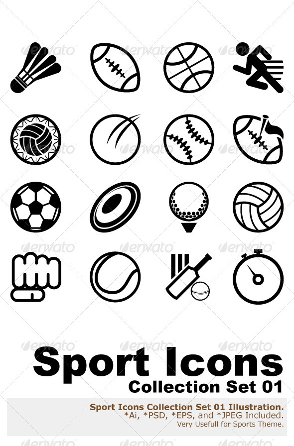 GraphicRiver Sport Icon Set 1675489