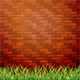 Red Brick Wall with Grass