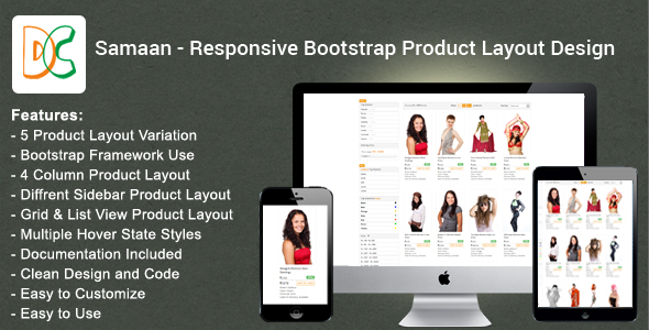 Samaan - Responsive Bootstrap Product Layout Design - CodeCanyon Item for Sale