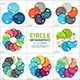 Circle Infographic Set. Template For Cycle Diagram.