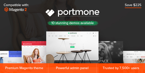 Portmone - Multi-Purpose Responsive Magento 2 and Magento 1 Theme