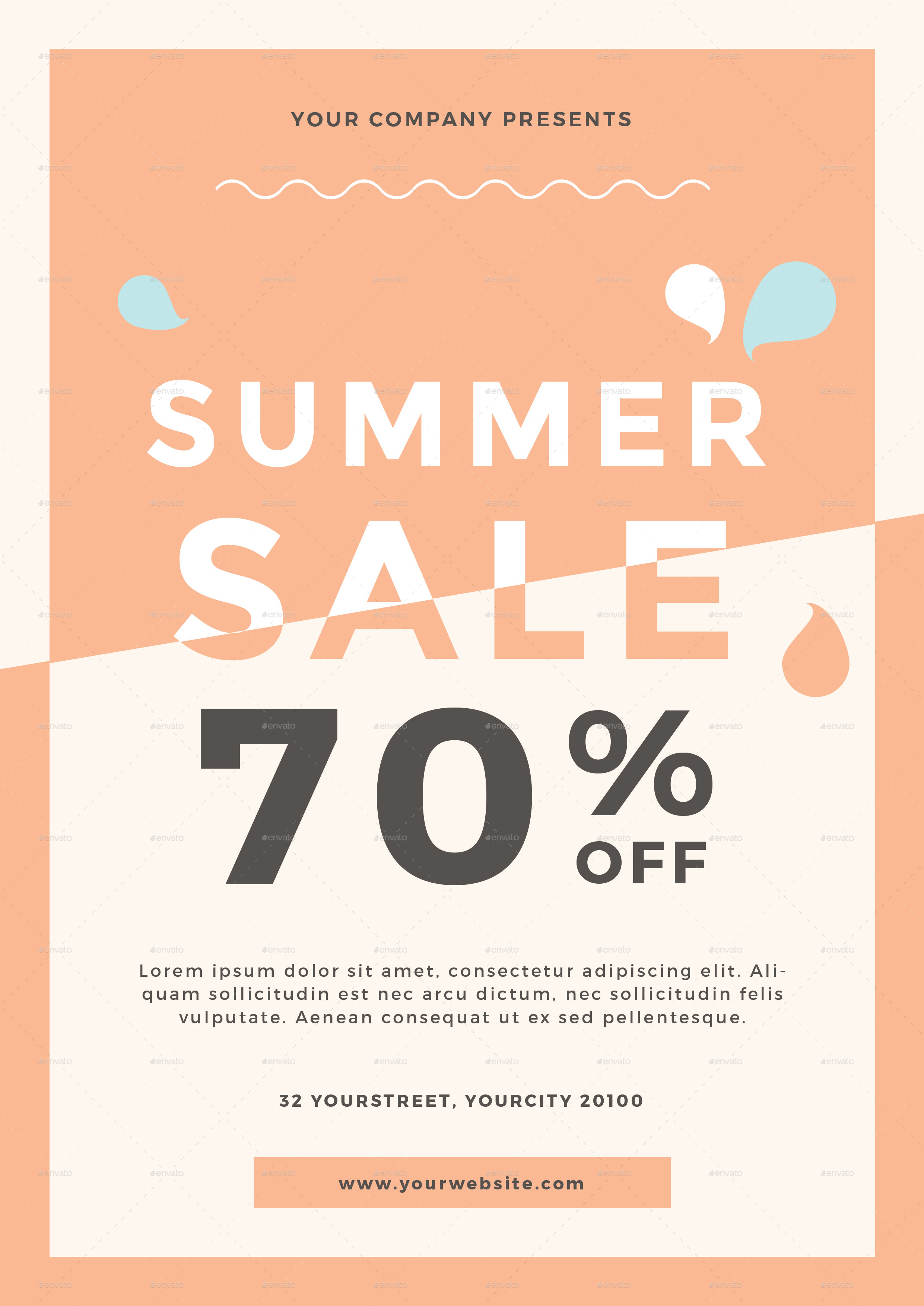 Summer Sale Flyer by infinite78910 | GraphicRiver