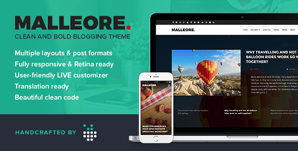 Download Malleore - Clean and Bold WordPress Blogging Theme nulled download