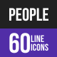 People Line Inverted Icons