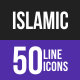 Islamic Line Inverted Icons