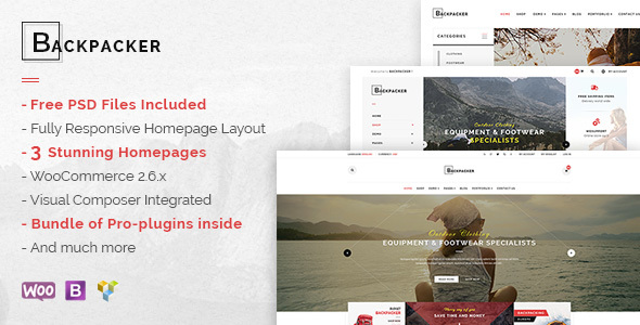 Download Backpacker - Responsive WooCommerce WordPress Theme