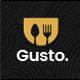 Gusto - Restaurant, Café, Bar, Seafood Restaurant PSD template