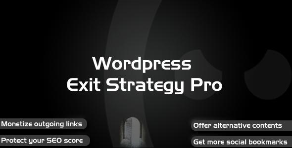 CodeCanyon Wordpress Exit Strategy Pro 1573775