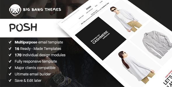 Download Posh - Commerce Multipurpose Email + Builder Access nulled download