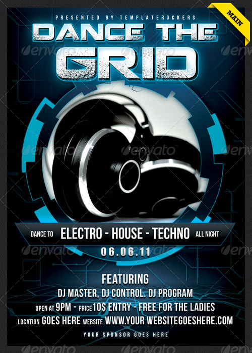 The Grid -  Flyer / Poster 3 SIZES