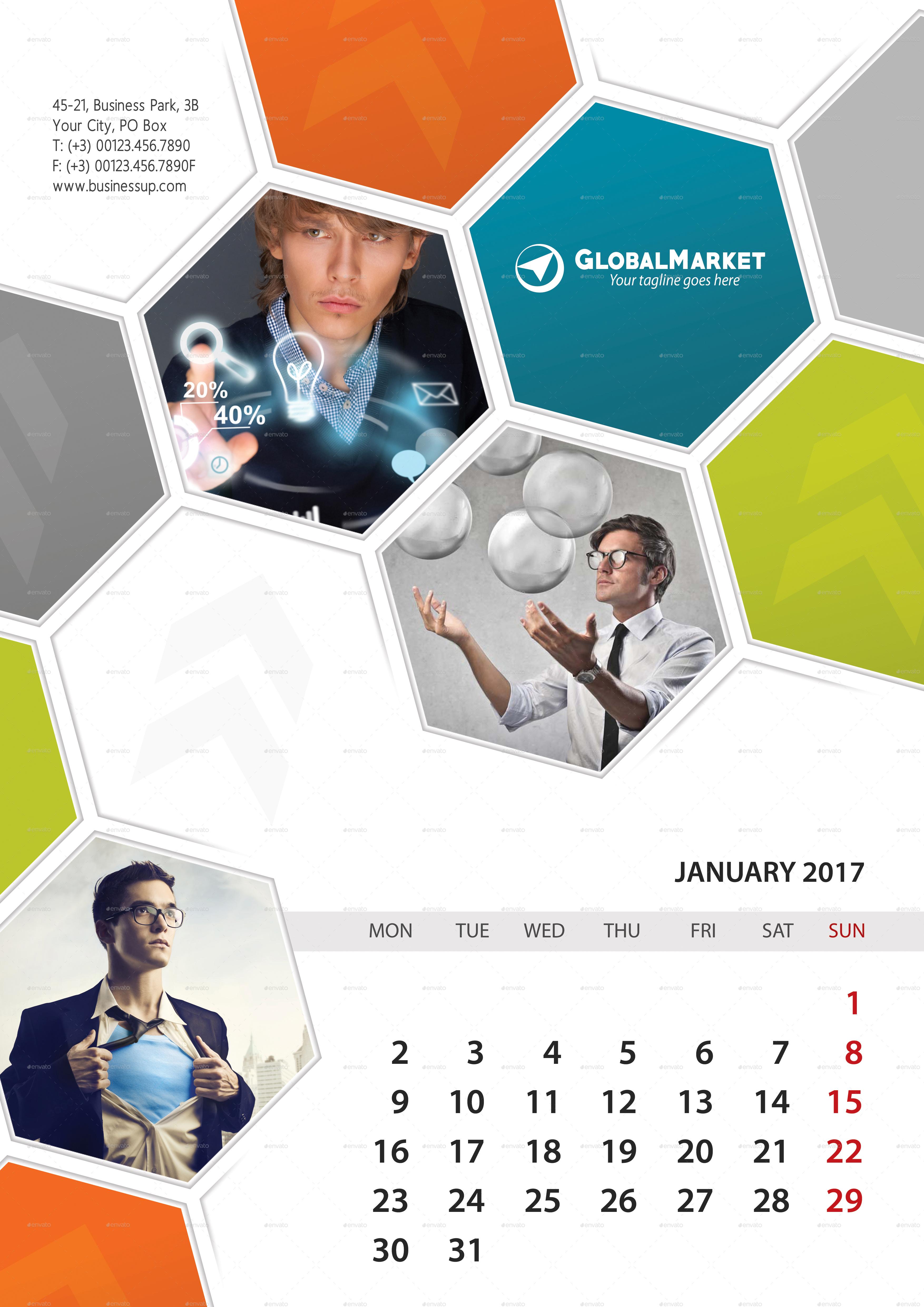 in 1 Wall Calendar 2017 Bundle V12 by rapidgraf   GraphicRiver