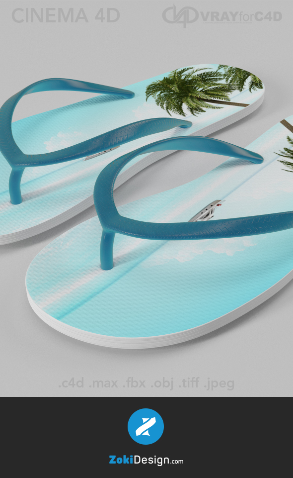 Flip Flops - 3DOcean Item for Sale