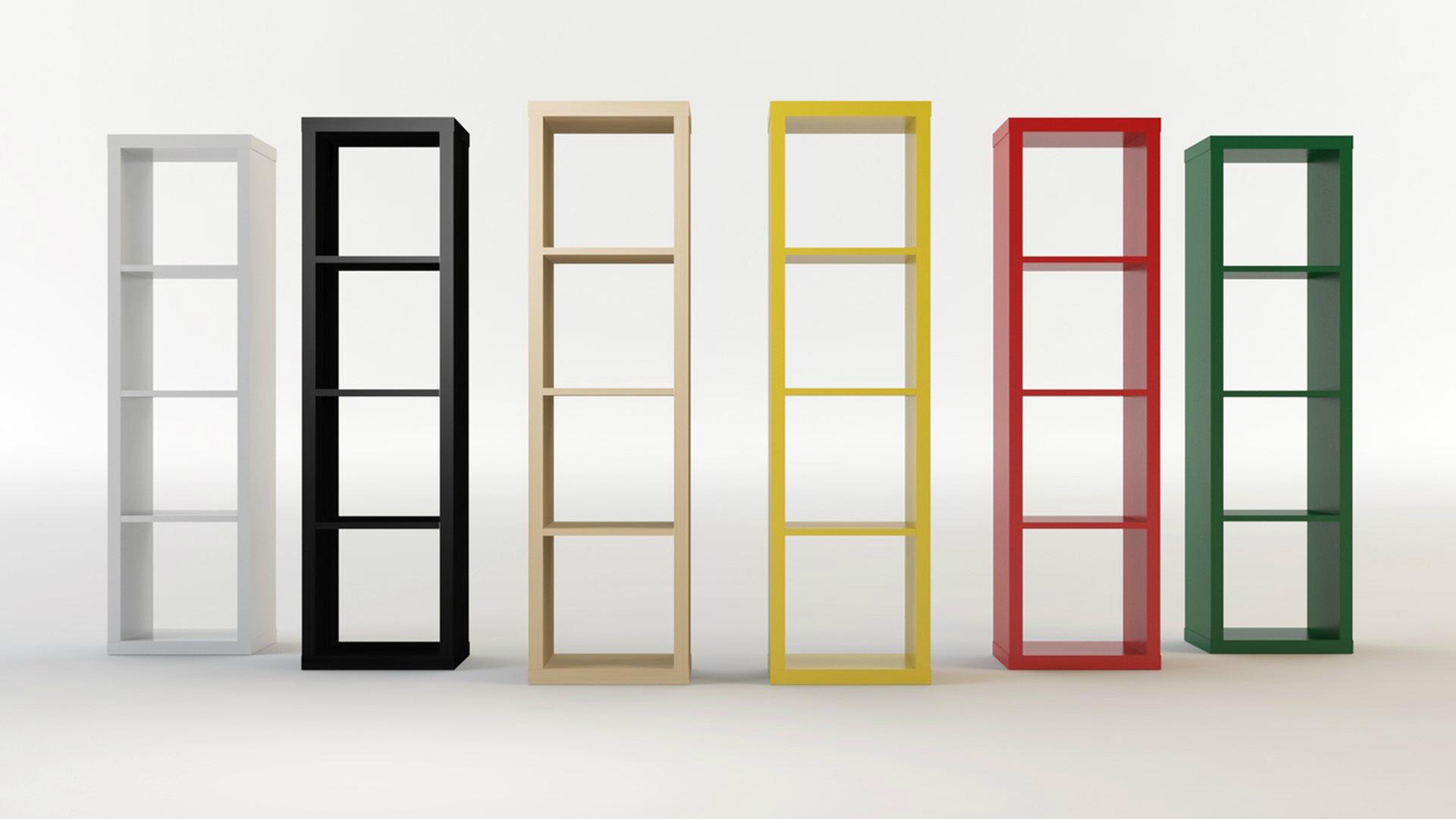 ikea kallax shelves by s i s c o 3docean. Black Bedroom Furniture Sets. Home Design Ideas