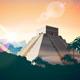 Ancient Mayan Pyramids Set